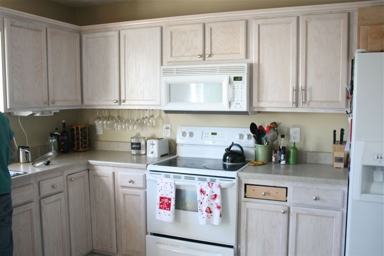 Remember when our kitchen was a light peach color? Not just any peach