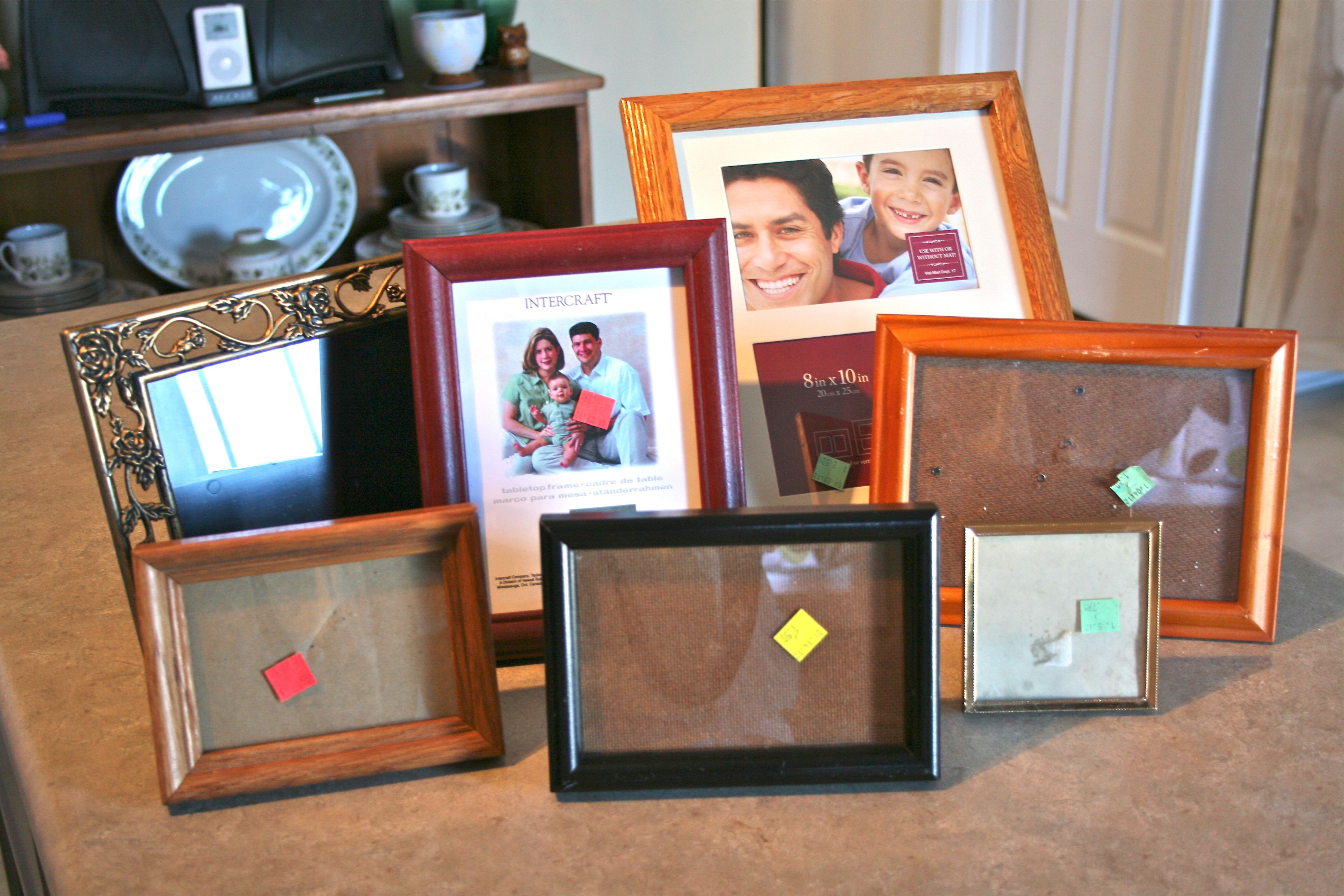 Fit for a wedding thrift store frames dream green diy i was hoping to find elaborate traditional frames with scroll work and filigree because all of those beautiful details really pop when painted a bright jeuxipadfo Choice Image