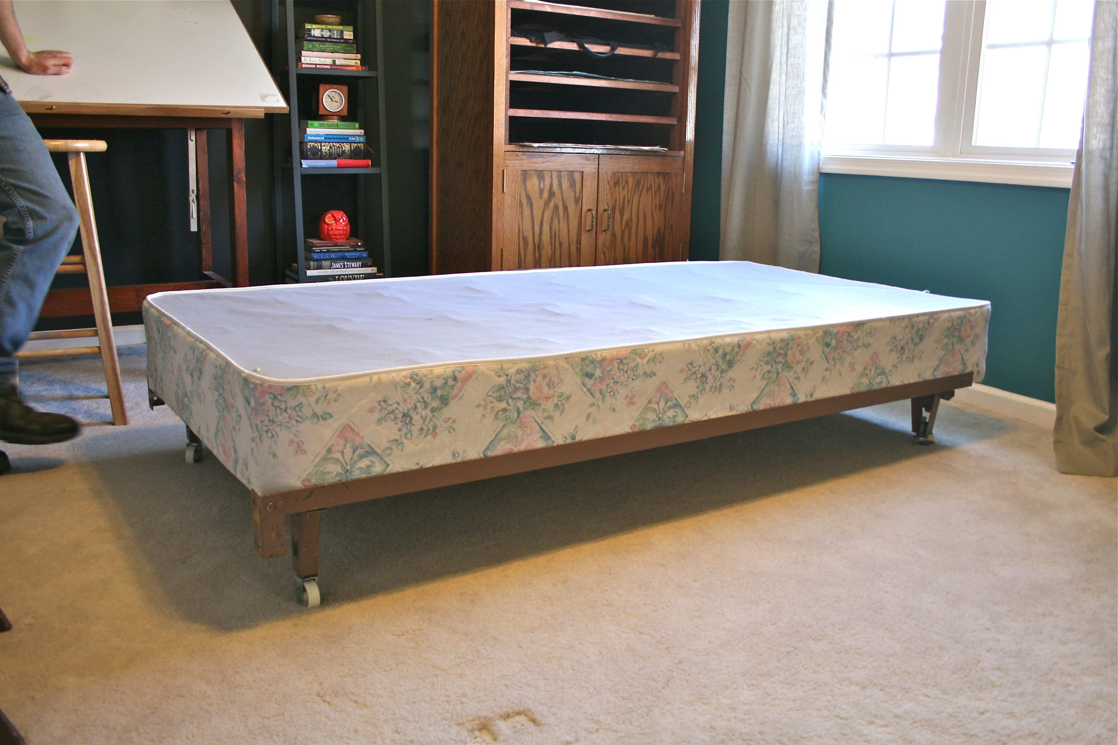 And Heres The Bed With Its New Crown Of Brass