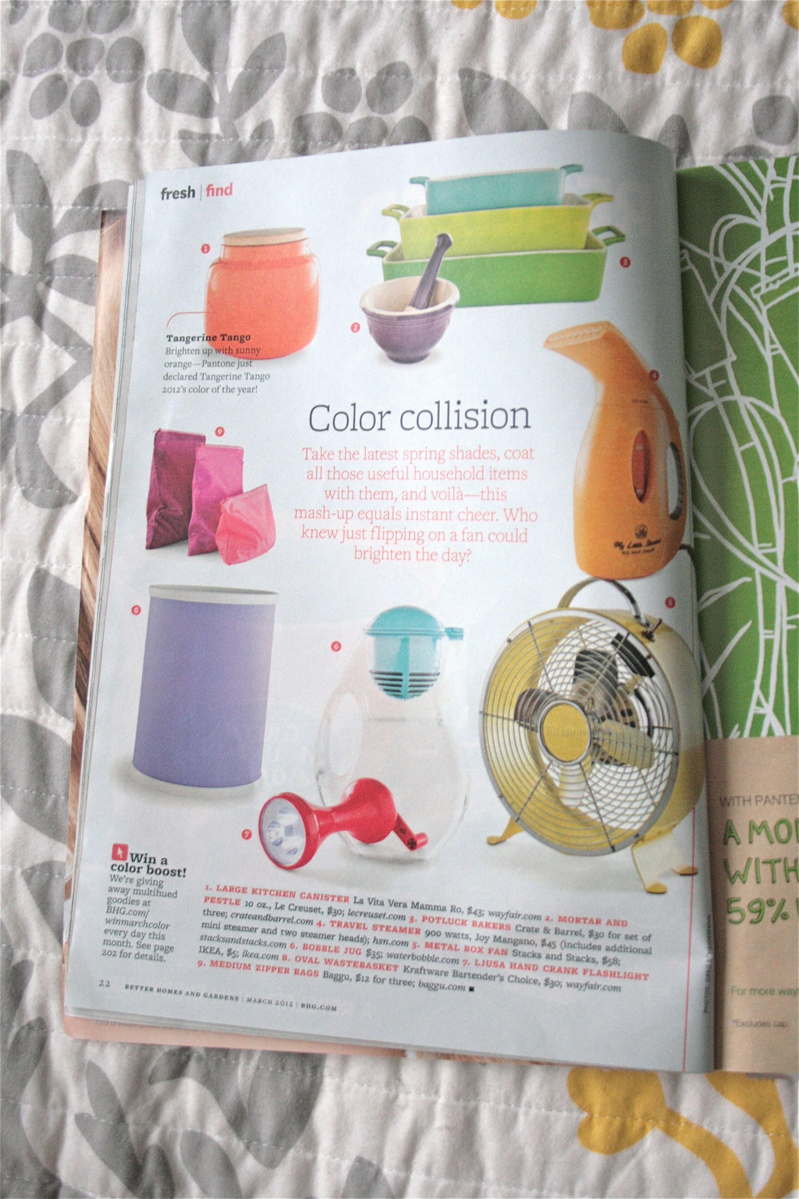 Mag Tag With Better Homes And Gardens March 2012