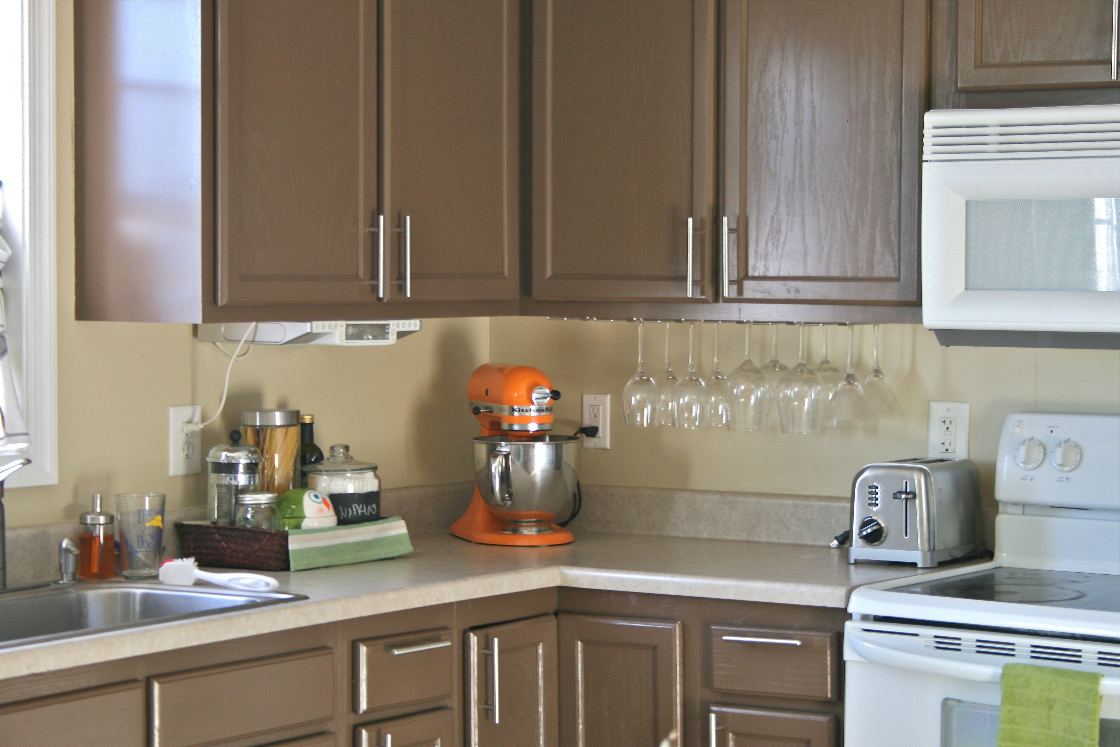 Pinspiration monday faux tile backsplash dream green diy first i rolled on two thin coats of primer the same can we used on the cabinets at the beginning of the year in my head i thought that the under layer dailygadgetfo Gallery