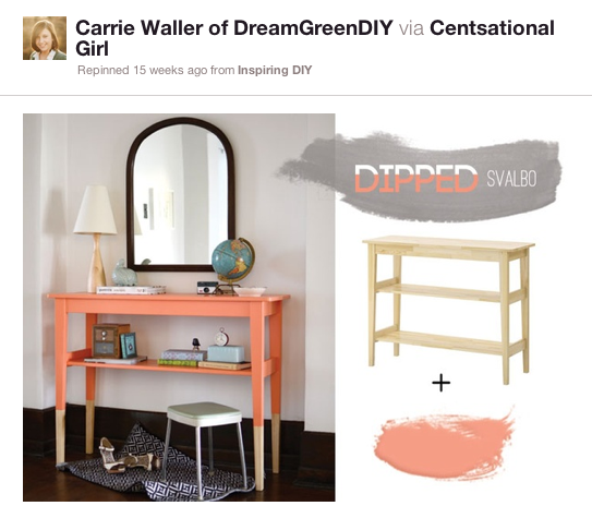 Pinspiration Monday Coral Side Table Dream Green Diy