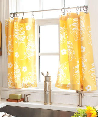 Pinspiration Monday: No sew cafe curtains - Dream Green DIY