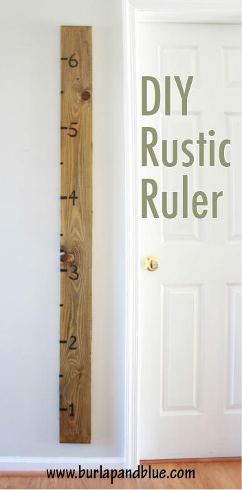 DIY Rustic Ruler