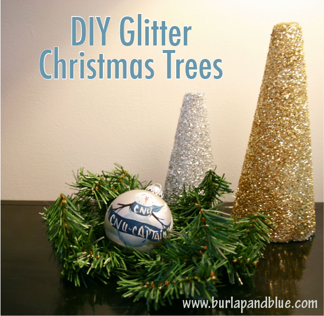diy glitter christmas trees - Glitter Christmas Tree
