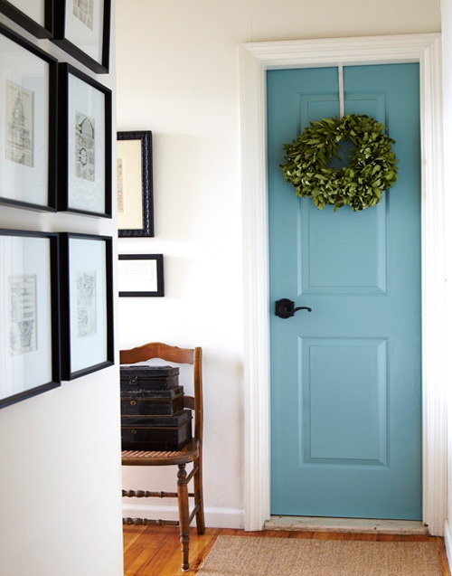 pinspiration monday interior painted door dream green diy. Black Bedroom Furniture Sets. Home Design Ideas