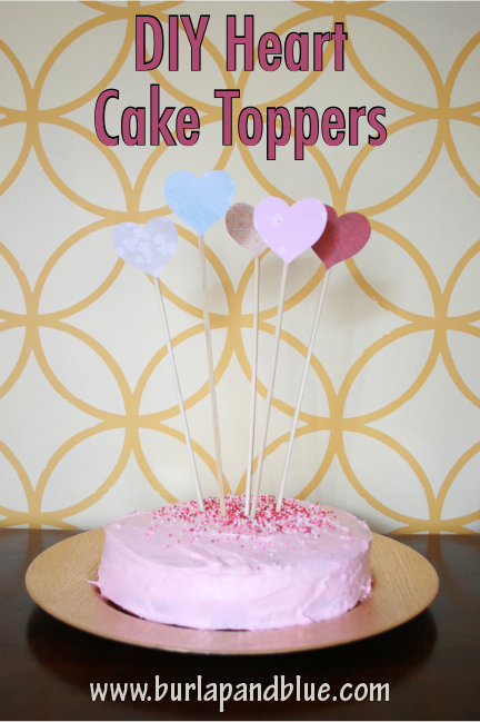 DIY Heart Cake Toppers