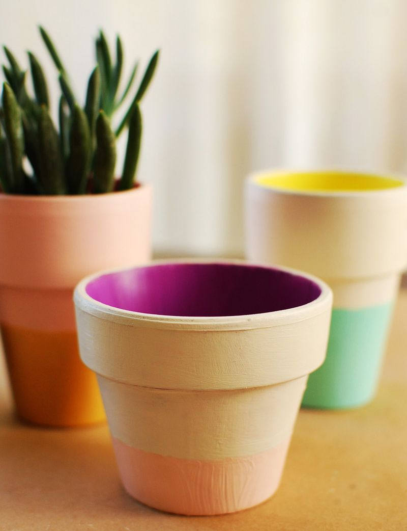 pinspiration monday dipped clay pots dream green diy