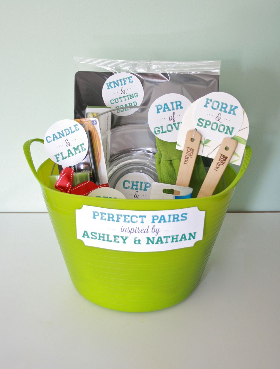 Perfect Pairs?: A bridal shower gift basket