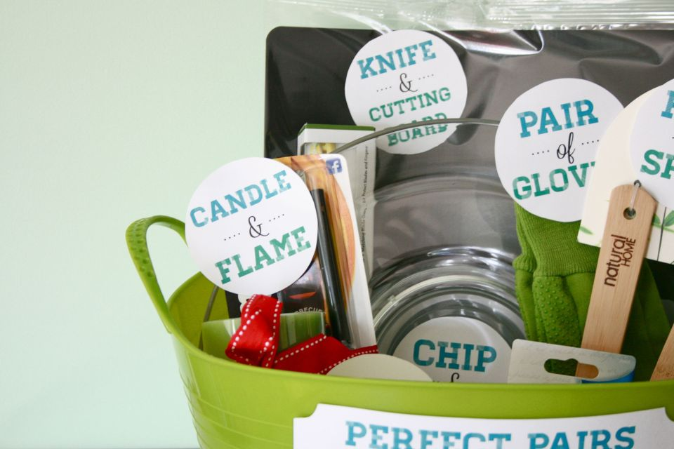 "Perfect Wedding Gift Ideas: ""Perfect Pairs"": A Bridal Shower Gift Basket"