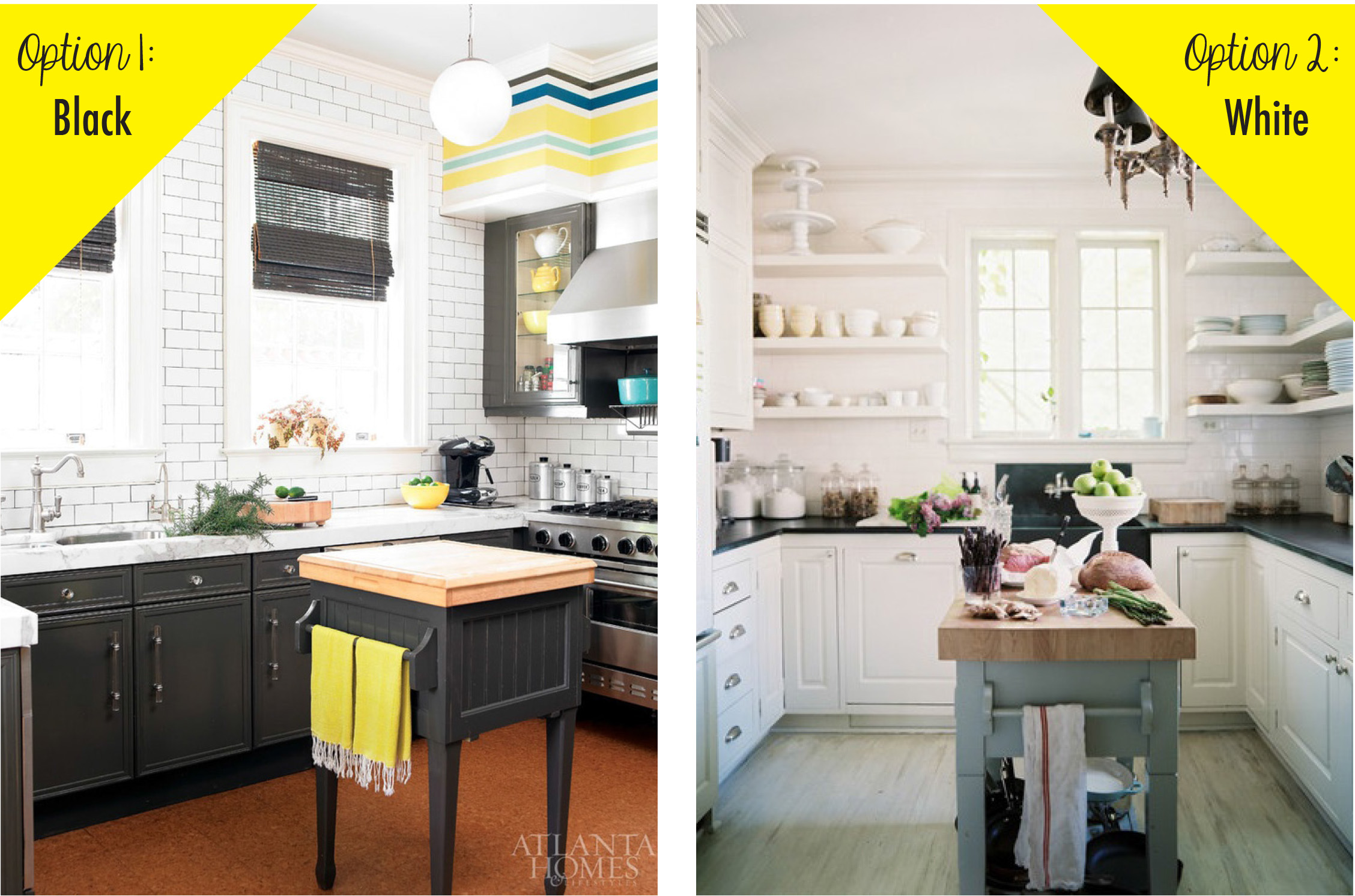 Black Bottom And White Top Kitchen Cabinets The Options Black Or White  Dream Green Diy