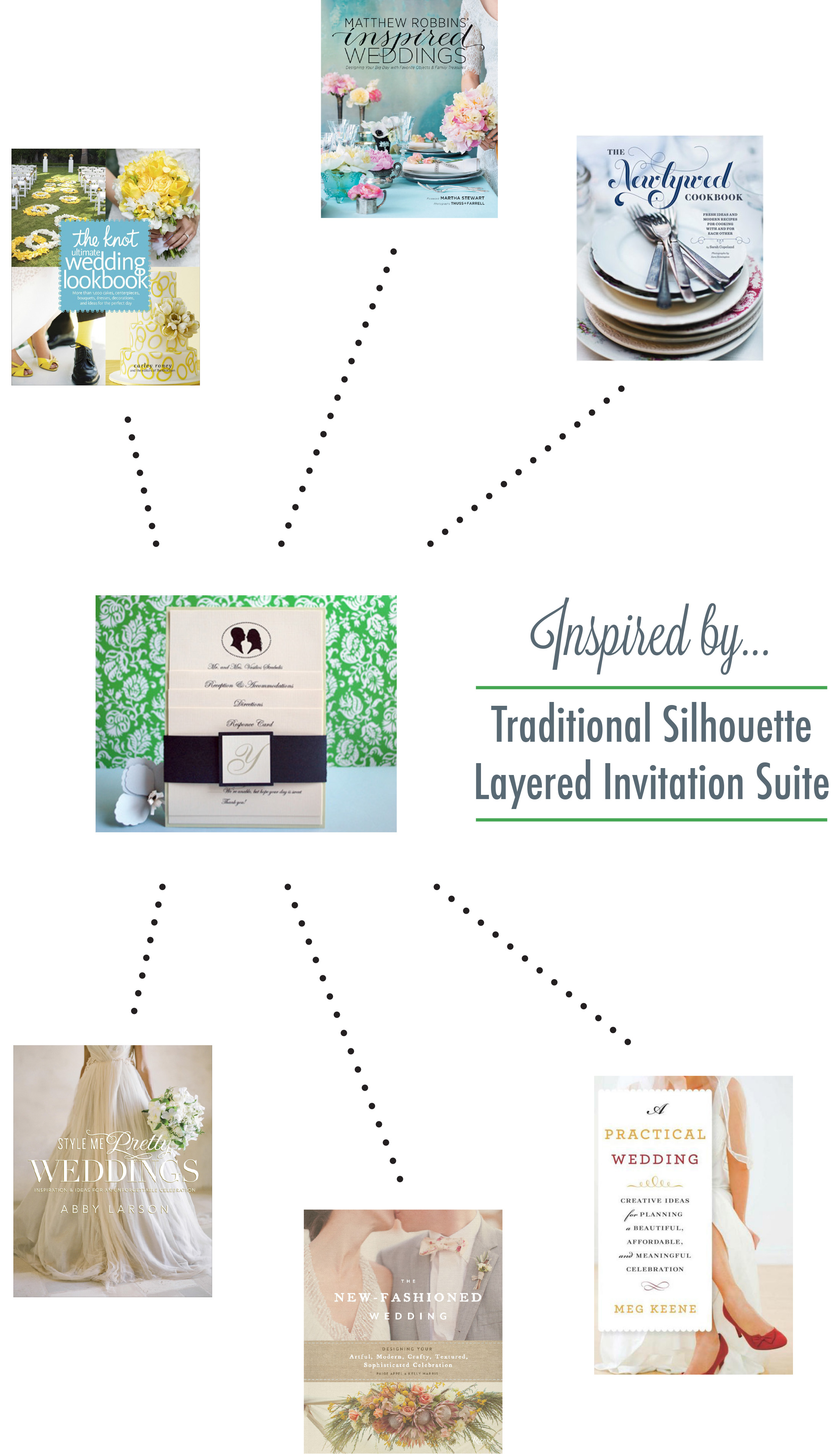 Traditional Silhouette Layered Invitation Suite